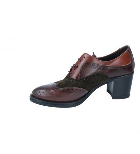 Zapatos Oxford con Cordón y Tacón para Mujer de Luis Gonzalo 5013M