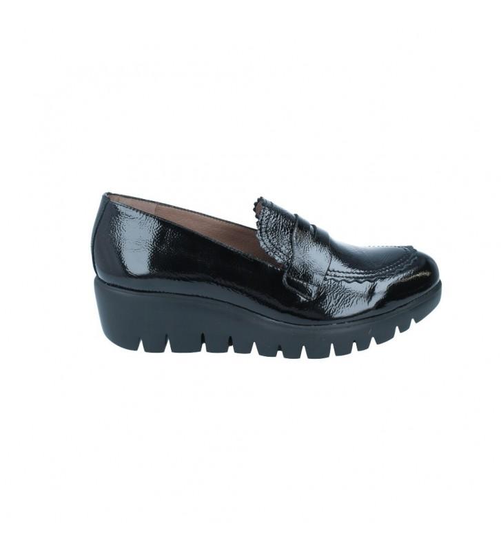 Zapatos Mocasín Casual con Cuña para Mujer de Wonders C-33223