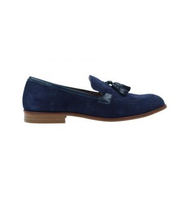 Calzados Vesga Zapatos Mocasines Mujer de Luis Gonzalo 5133M Color Serraje Marino Foto 1