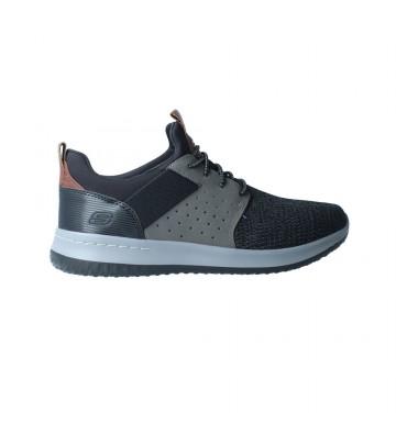 Zapatos Deportivos para Hombre de Skechers Delson 65474 - Calzados Vesga color gris y negro foto 1