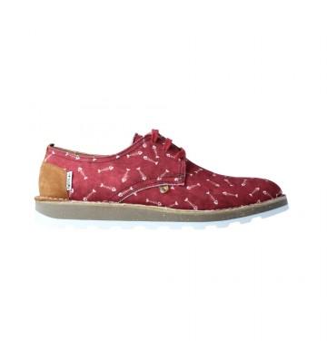 Calzados Vesga Zapatos Casual Con Cordones Para Hombres De Partelas Tarifa Color Burdeos Foto 1