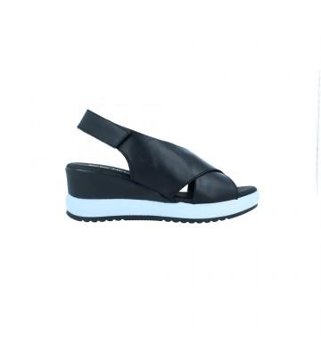 Calzados Vesga Sandalias Casual con Cuña para Mujer de Pepe Menargues 10124 Color Negro Foto 1