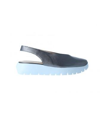 Calzados Vesga Zapatos Casual Destalonados Mujer de Wonders A-2406 Color Plomo Foto 1