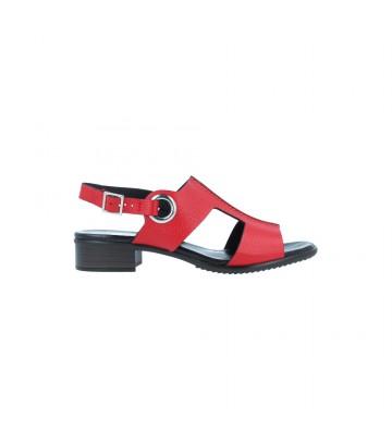 Calzados Vesga Sandalias Tacón Casual Mujer de Plumers 3377 Color Rojo Foto 1