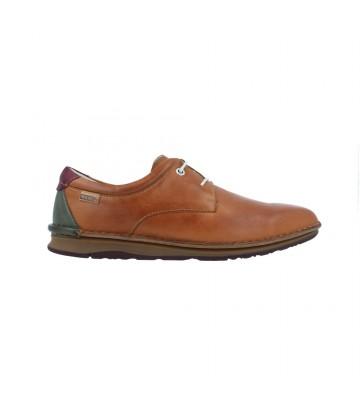 Calzados Vesga Zapatos Casual con Cordón Hombres de Pikolinos Navas M7T-4036 Color Cuero Foto 1