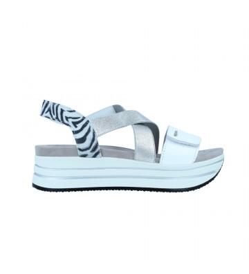 Calzados Vesga Sandalias Casual con Cuña y Plataforma Mujer de Igi&Co 71621 Color Blanco Foto 1