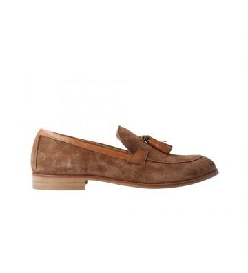 Calzados Vesga Zapatos Mocasines Mujer de Luis Gonzalo 5133M Color Serraje Cuero Foto 1