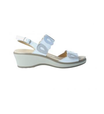 Calzados Vesga Sandalias Cuña Mujer de Cinzia Soft 11532PCC Color Blanco Foto 1