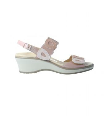 Calzados Vesga Sandalias Cuña Mujer de Cinzia Soft 11532PCM Color Perla y Rosa Foto 1