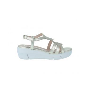 Sandalias Cuña Mujer de Wonders D-8251 - Calzados Vesga color platino foto 1