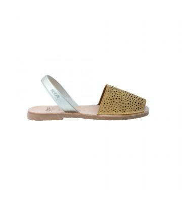 Calzados Vesga Sandalias Abarcas Menorquinas Mujer Ria 27800-2-S2 Color Nobuck Mostaza Foto 1