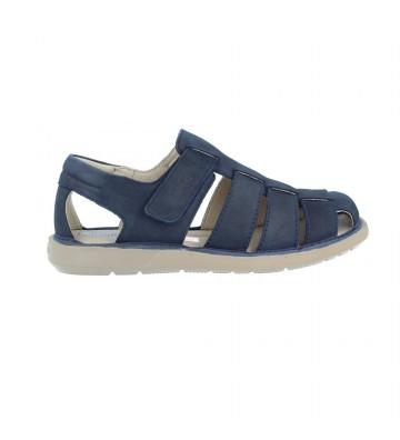 Calzados Vesga Sandalias Cangrejeras Hombre de Callaghan Leban 92300 Color Nobuck Azul Foto 1