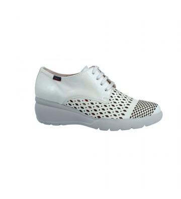 Calzados Vesga Zapatos Deportivos Casual para Mujer de Callaghan 28903 Color Charol Beige Foto 1