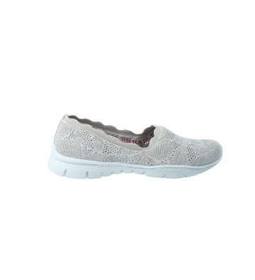 Zapatos Mocasines Deportivos Mujer de Skechers 158082 Seager - Calzados Vesga Color Taupe Foto 1