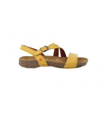 Calzados Vesga Sandalias Planas Mujer de Art Company 1045 I Breathe Color Amarillo Foto 1