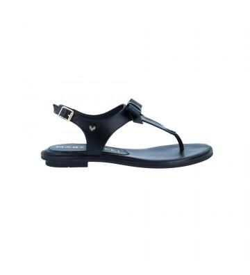 Calzados Vesga Sandalias Esclava Plana Mujer de Martinelli Mazzini 1535-A217 Color Negro Foto 1