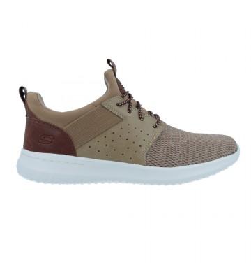 Zapatos Deportivos para Hombre de Skechers Delson 65474 - Calzados Vesga color marrón y taupe foto 1