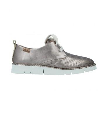 Zapatos Casual con Cordones de Mujer Pikolinos Vera W4L-6780 Calzados Vesga color metal foto 1