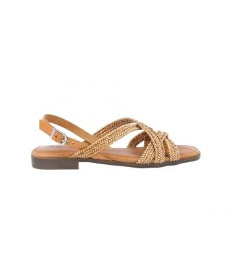 Sandalias Planas Mujer de LOL 6012 - Calzados Vesga color arena foto 1