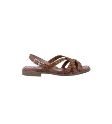 Sandalias Planas Mujer de LOL 6134 - Calzados Vesga color cuero foto 1