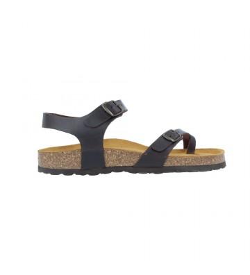 Sandalias Cuña Mujer de Okios Nido 005 - Calzados Vesga color marrón foto 1