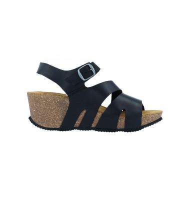 Sandalias Cuña Bio Mujer de Okios Cebu-007 - Calzados Vesga color negro foto 1