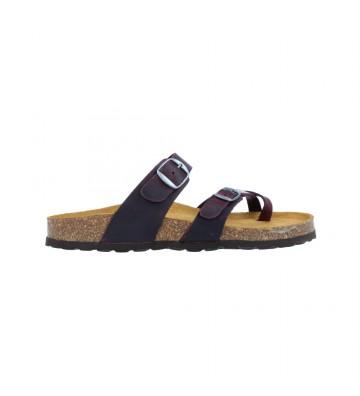 Sandalias Planas Bio Mujer de Okios Nido-002 - Calzados Vesga color burdeos foto 1