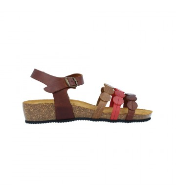 Sandalias Cuña Bio Mujer de Okios Balugan-010- Calzados Vesga color cuero foto 1