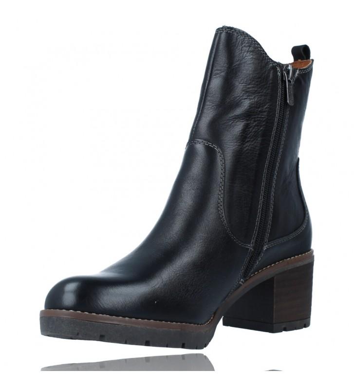 Calzados Vesga Botines Casual con Tacón para Mujer de Pikolinos Llanes W7H-8948 color negro foto 4