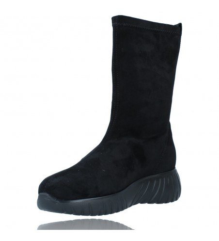 Calzados Vesga Zapatillas Deportivas Botines para Mujer de Weekend 27053 Bled color negro foto 4