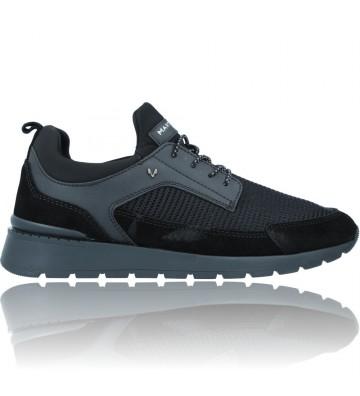 Calzados Vesga Zapatillas Deportivas de Piel para Hombre de Martinelli Milo 1445-2566P color negro foto 1