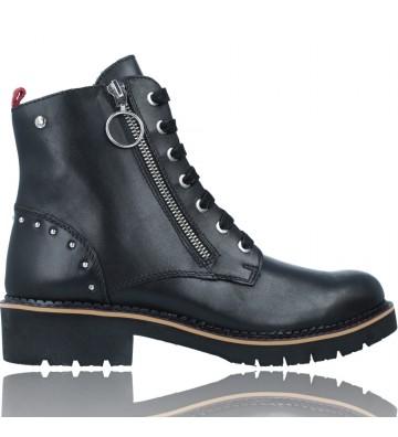 Calzados Vesga Botines Casual con Cordones de Piel para Mujer de Pikolinos Vica W0Z-8610 color negro foto 1