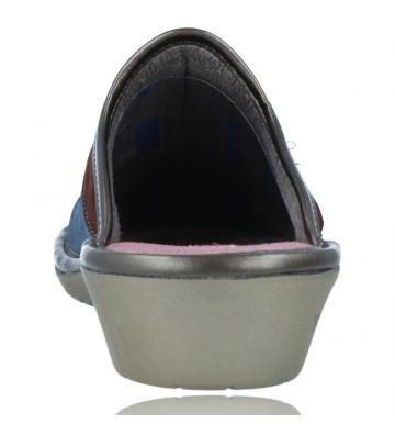 Calzados Vesga Zapatillas de Casa de Piel sin Talón para Mujer de Nordikas Top Line Sra 1362-0 color multi rosa foto 7