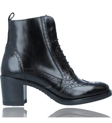 Calzados Vesga Botines de Piel Oxford con Cordones para Mujer de Luis Gonzalo 4997M color negro foto 1