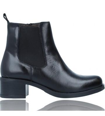 Calzados Vesga Botines de Piel Chelsea Casual para Mujer de Luis Gonzalo 5117M color negro foto 1