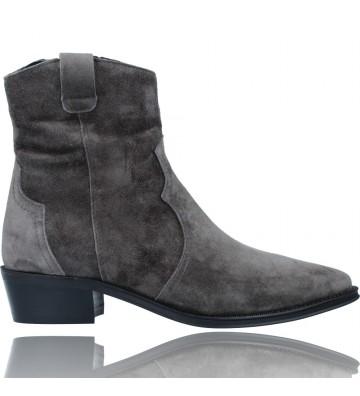 Calzados Vesga Botines de Piel Camperos o Tejanos para Mujer de Alpe Woman Shoes color gris foto 1