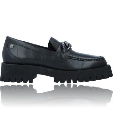 Calzados Vesga Zapatos de Piel Mocasines Casual para Mujer de Carmela 67985 color negro foto 1