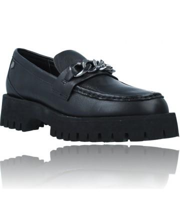 Calzados Vesga Zapatos de Piel Mocasines Casual para Mujer de Carmela 67985 color negro foto 2