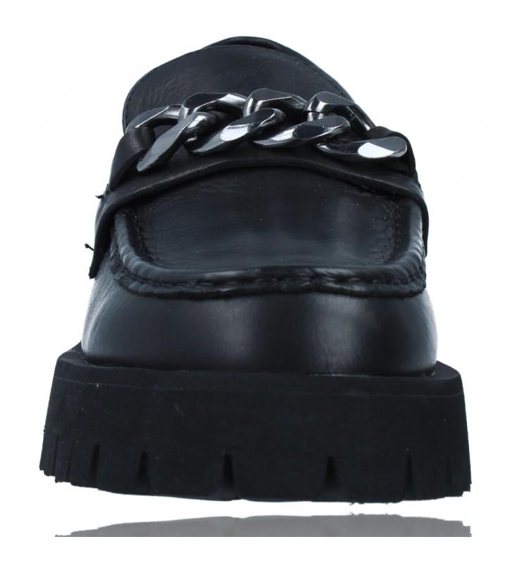 Calzados Vesga Zapatos de Piel Mocasines Casual para Mujer de Carmela 67985 color negro foto 3