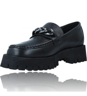 Calzados Vesga Zapatos de Piel Mocasines Casual para Mujer de Carmela 67985 color negro foto 4