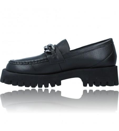 Calzados Vesga Zapatos de Piel Mocasines Casual para Mujer de Carmela 67985 color negro foto 5