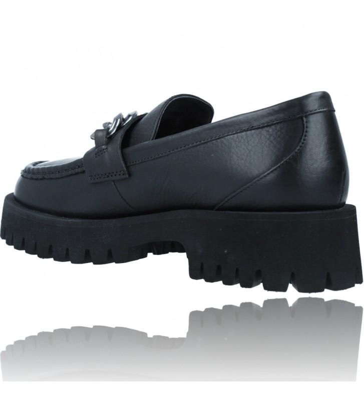 Calzados Vesga Zapatos de Piel Mocasines Casual para Mujer de Carmela 67985 color negro foto 6