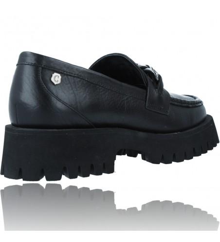 Calzados Vesga Zapatos de Piel Mocasines Casual para Mujer de Carmela 67985 color negro foto 8