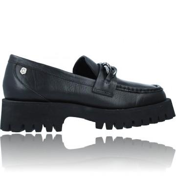 Calzados Vesga Zapatos de Piel Mocasines Casual para Mujer de Carmela 67985 color negro foto 9