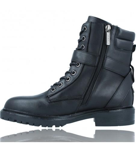 Calzados Vesga Botas Militares Moteras con Hebilla y Cordones de Piel para Mujer de Carmela 67917 color negro foto 5