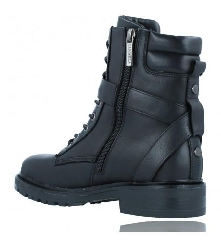 Calzados Vesga Botas Militares Moteras con Hebilla y Cordones de Piel para Mujer de Carmela 67917 color negro foto 6