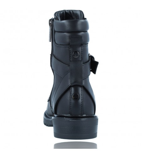 Calzados Vesga Botas Militares Moteras con Hebilla y Cordones de Piel para Mujer de Carmela 67917 color negro foto 7