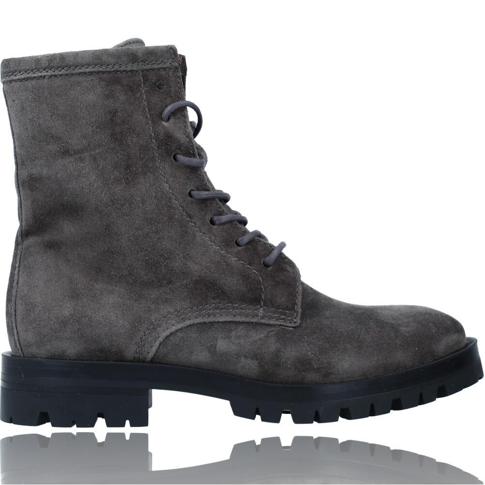 Calzados Vesga Botas de Piel Militares o Moteras para Mujer de Alpe 2047 color gris foto 1