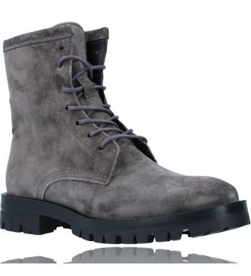 Calzados Vesga Botas de Piel Militares o Moteras para Mujer de Alpe 2047 color gris foto 2