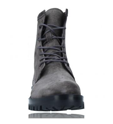 Calzados Vesga Botas de Piel Militares o Moteras para Mujer de Alpe 2047 color gris foto 3